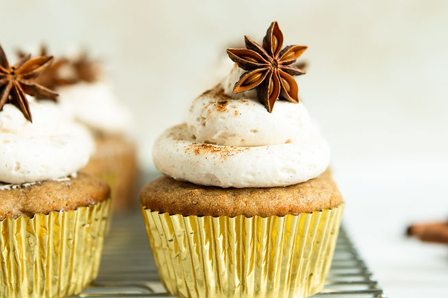 Banana Cupcakes  with  Chai Buttercream.