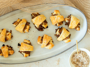 Onion Jam & Goat Cheese Rugelach