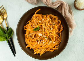 Creamy Tomato Pasta with Herb Breadcrumbs