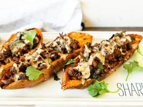 Healthy Turkey-Stuffed Sweet Potatoes