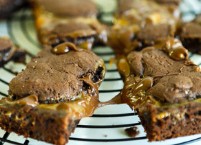 Gooey Caramel Brownies