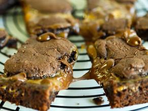 Gooey Caramel Brownies