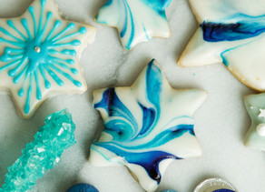 Marbleized Iced Sugar Cookies