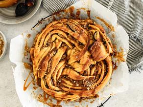 Fig, Caramel & Pecan Babka