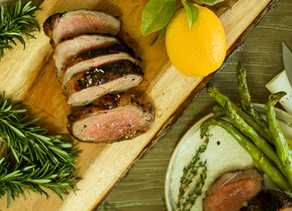 Grilled Lamb with Lemon, Garlic & Herbs