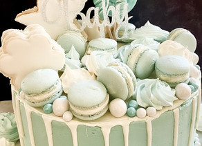 """Oh Baby"" Shower Cake"