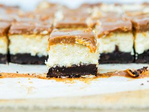 Brownie Cheesecake Bars with Dulce de Leche
