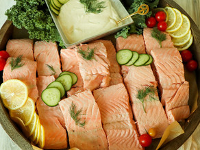 Cold Poached Salmon with Mustard-Lime Sauce