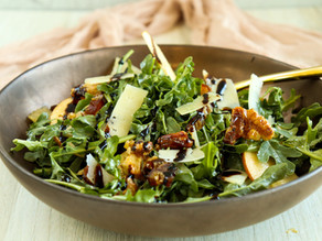 Arugula Salad with Dates & Candied Walnuts