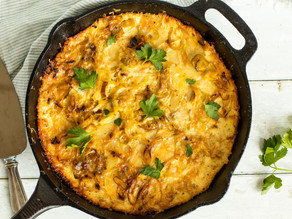French Potato Gratin with Leeks & Gruyère Cheese