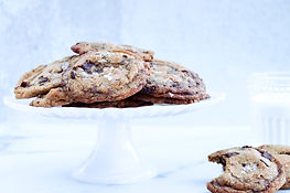 BROWN BUTTER & TOFFEE CHOC CHIP COOKIES.