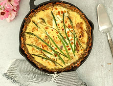 1HASHBROWN ASPARAGUS QUICHE