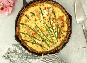 Hash-brown Crust Asparagus Tart