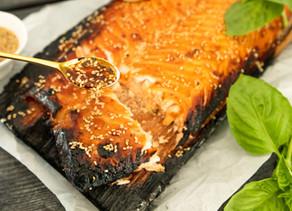 Cedar Plank Sesame Salmon