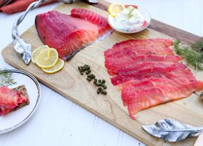 Beet-Cured Salmon Gravlax