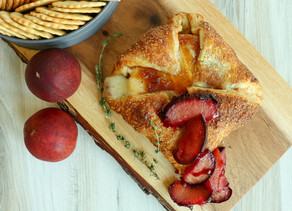 Baked Brie with Roasted Plums