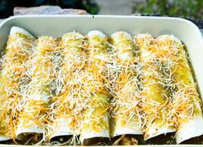Chipotle Chicken Corn Enchiladas