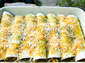 Chipotle Chicken Corn Enchiladas