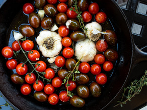 Roasted Cherry Tomatoes with Garlic & Herbs