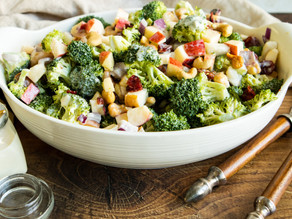 Broccoli Cashew Salad with Apples & Pears