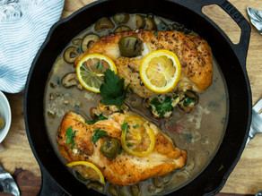 Chicken with Roasted Lemons, Green Olives & Capers