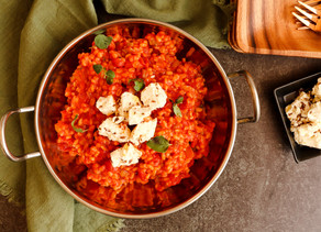 Barley Risotto with Marinated Feta