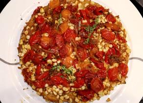 Corn & Tomato Tarte Tatin