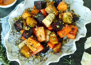 Best Ever Roasted Root Vegetables with Pistachio Crumble