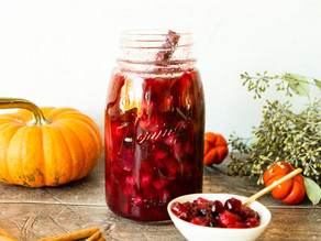 Spiced Cranberry Sauce with Pears