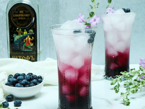 Lavender Blueberry Vodka Sparkler