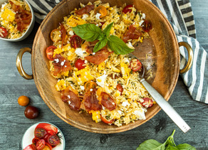 Summer Corn & Feta Orzo