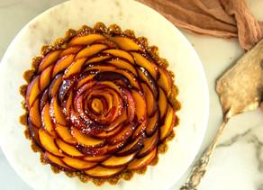 Creamy Peach & Honey Tart