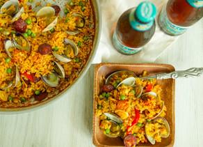 Weeknight Clams & Spanish Chorizo Paella