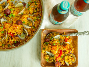 Weeknight Clams & Spanish Chorizo Paella
