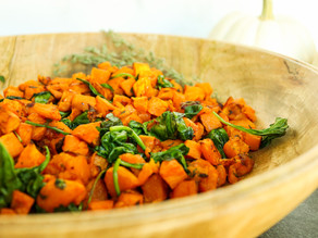 Maple Roasted Butternut Squash & Sweet Potatoes