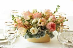 Peach and blush wedding flowers
