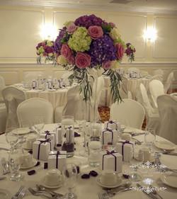 Tall Purple Wedding Centerpiece
