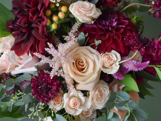 Burgundy and Blush Wedding @ The Grain House at Olde Mill Inn
