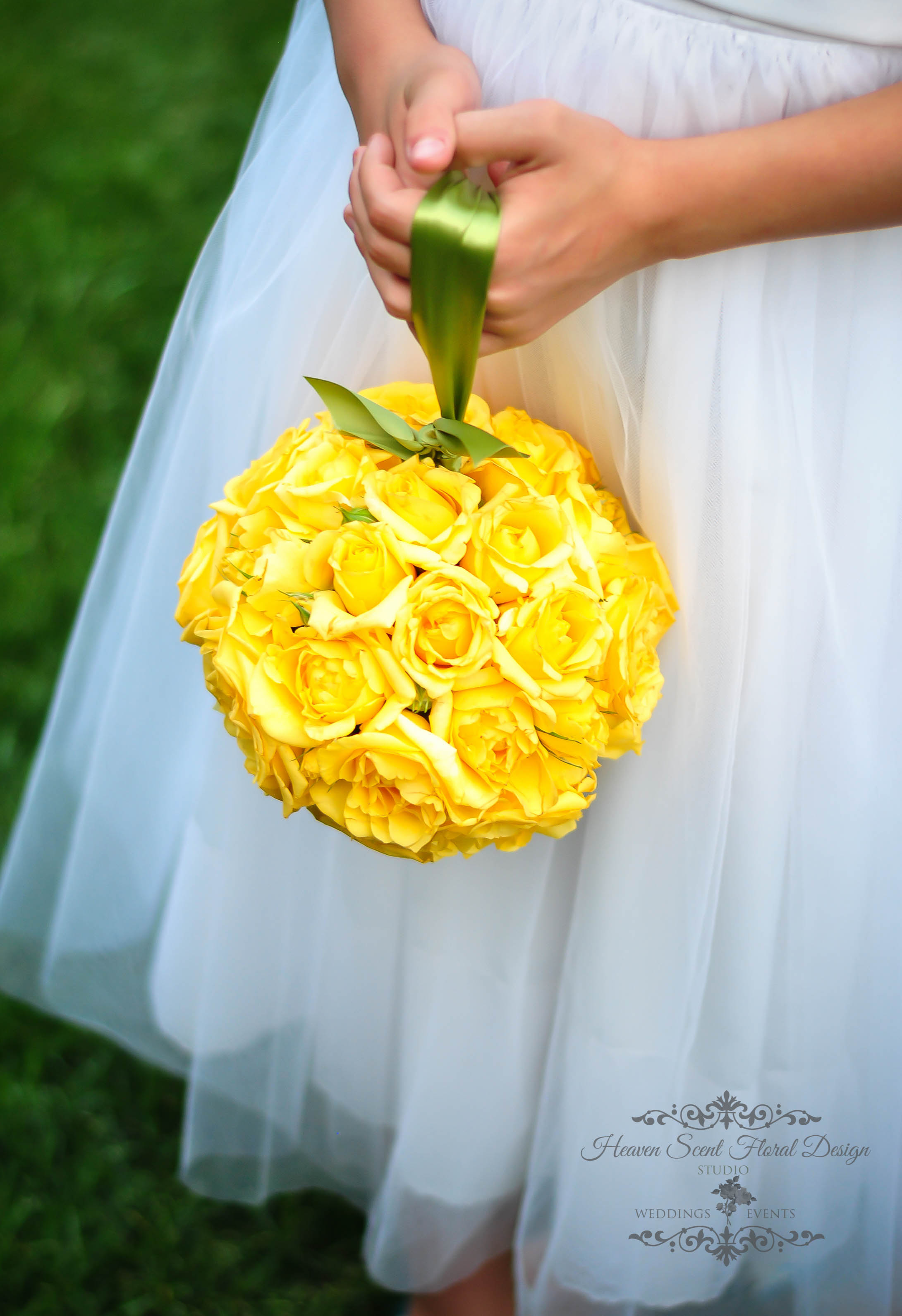 Yellow Flower Girl Pomander