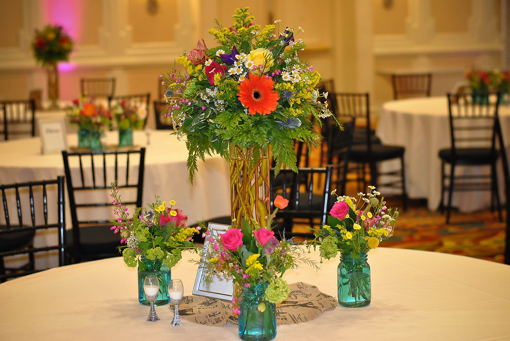 Garden-Inspired tall floral arrangements