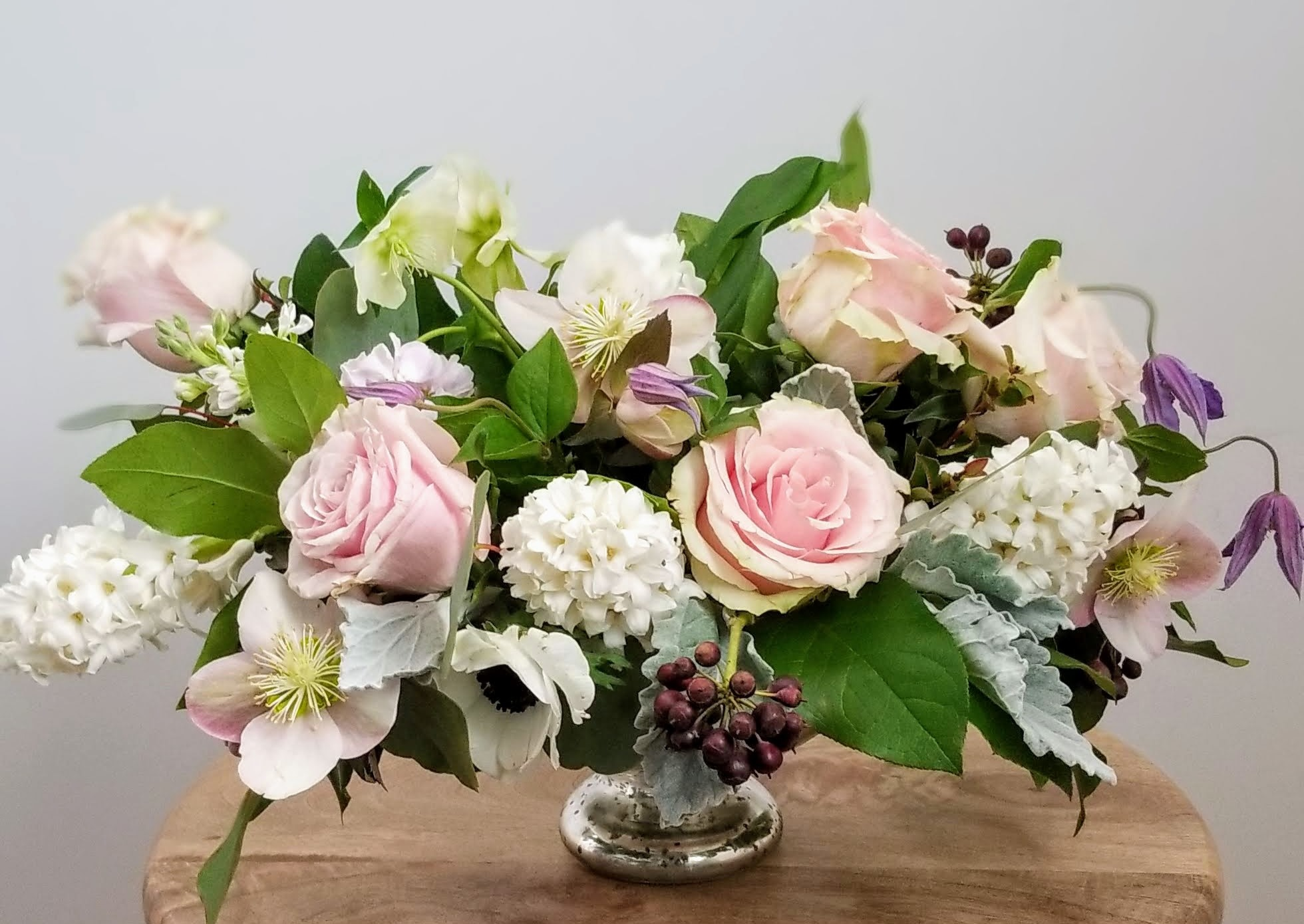 Blush Rose Spring Wedding Flowers