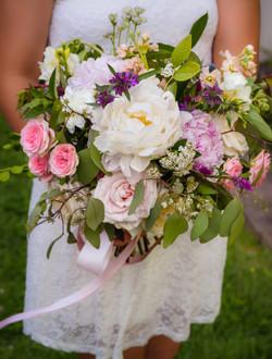 Blush pink wedding bridal bouquet