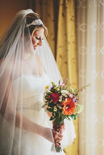 gardend style bridal bouqquet