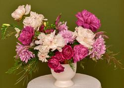 Pink peonies floral arrangement