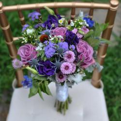 Purple and Blue Wedding Flowers