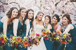 garden style bridesmaids bouquet