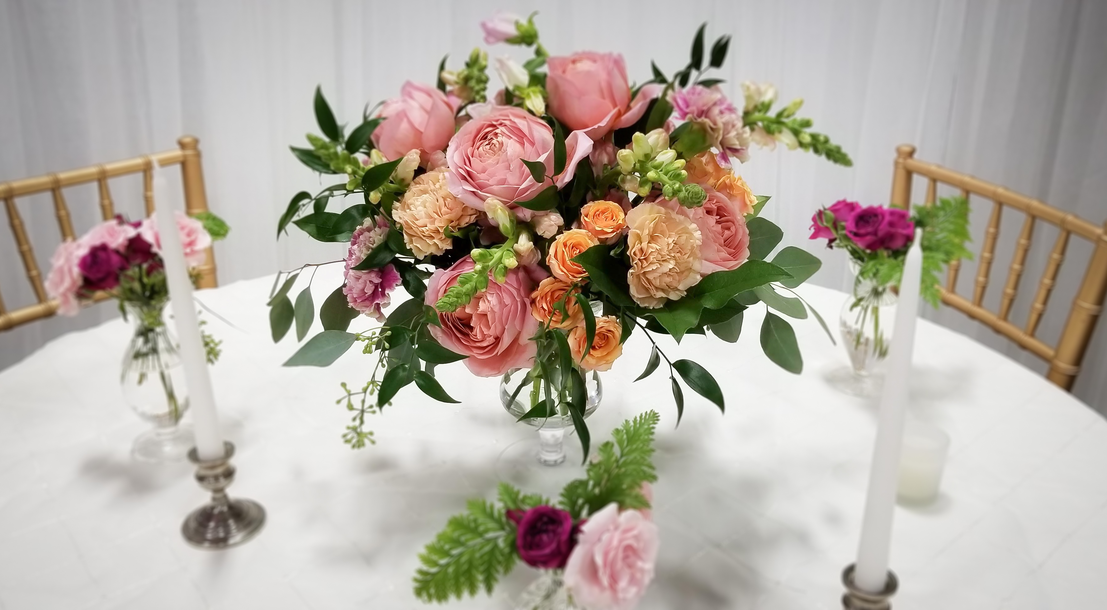 Dusty Rose Wedding Flowers