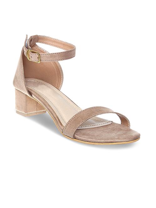 PEPLUM Women's Ankle Strap Block Heels Sandal