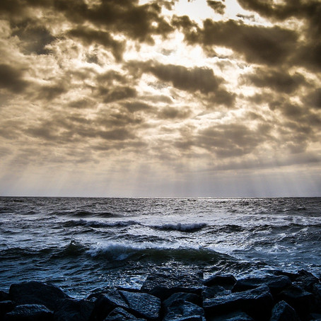 Sunshine on rough seas