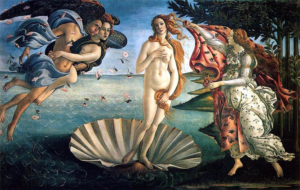Mythology - The Birth of Venus.  Aphrodite.  Classic Art, Astrology